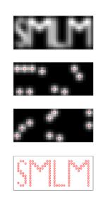 Concept of single molecule localisation microscopy