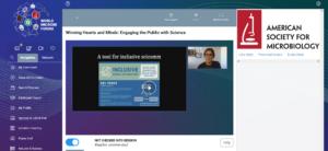 Screenshot of the online platform of the World Microbe Forum